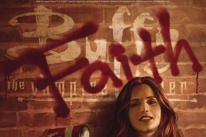 eliza dushku graffiti buffy the vampire slayer illustrations faith lehane  dark horse comics spraycan Art HD