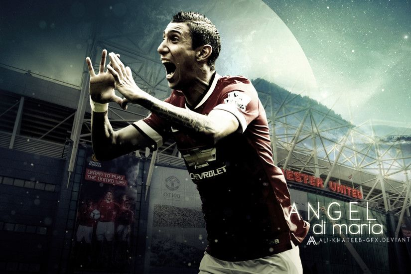 ... Angel Di Maria HD Wallpaper (ManU) by Ali-Khateeb-gfx