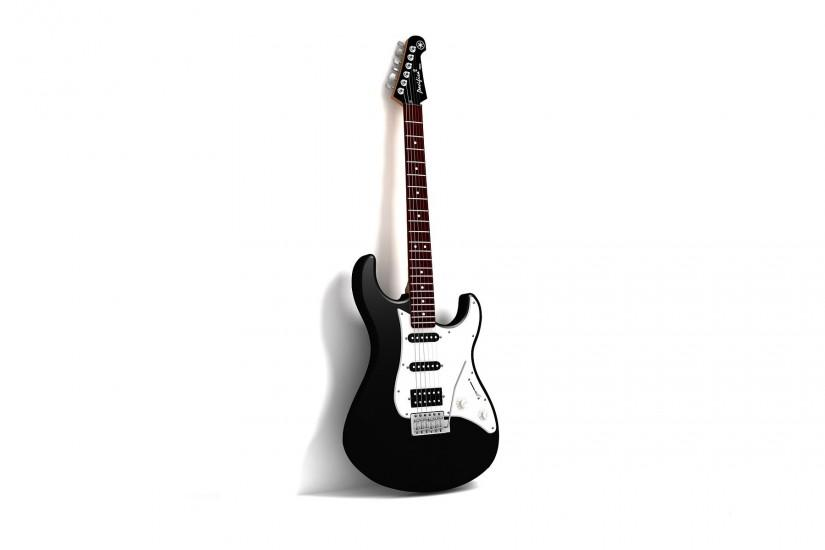 Guitar, White Background, Wallpaper