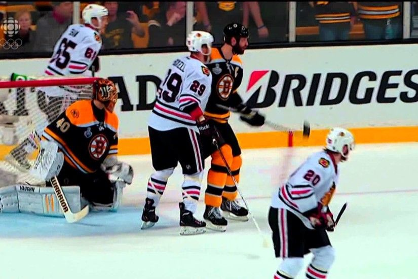Zdeno Chara vs Bryan Bickell - Chara Manhandles Bickell June 17 2013 HD  Game 3 Stanley Cup Finals