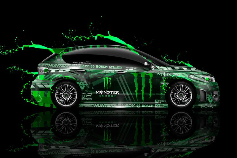 Monster Energy Subaru Impreza Wrx Sti Live Colors Car 2014 El Tony