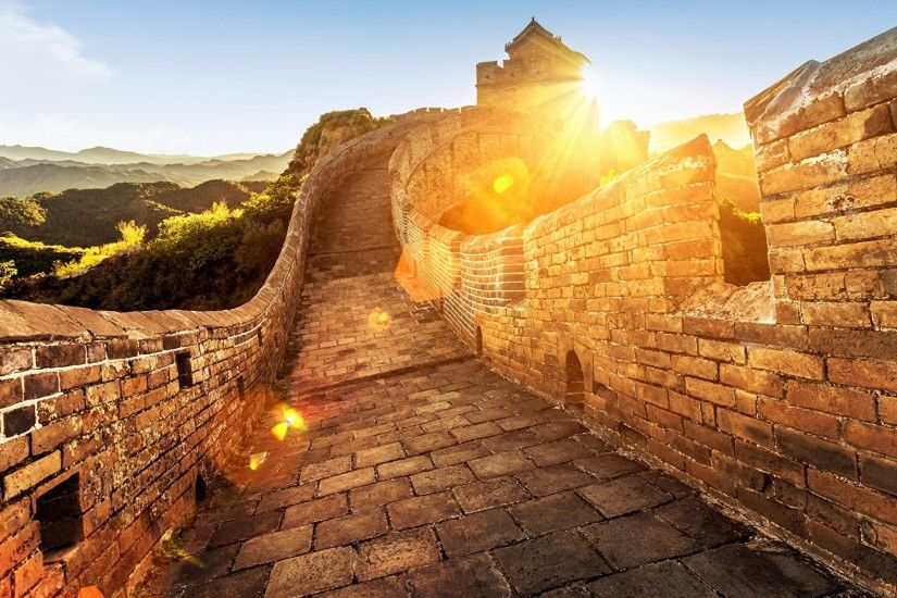 Wallpapers Nature The Great Wall of China Fence 2048x1152