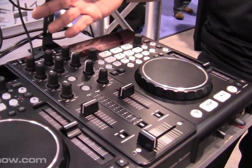 AMERICAN AUDIO VERSADECK 2 DECK MIDI CONTROLLER USB PLAYER AT NAMM 2011  WITH I DJ NOW