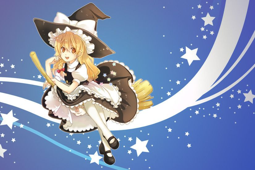 Anime - Touhou Witch Marisa Kirisame Wallpaper