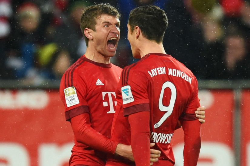 Guardiola's men did not have a long wait for the opening goal, which  arrived after just 15 minutes, with Lewandowski on target.