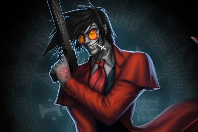 Preview wallpaper hellsing, alucard, art 2048x1152