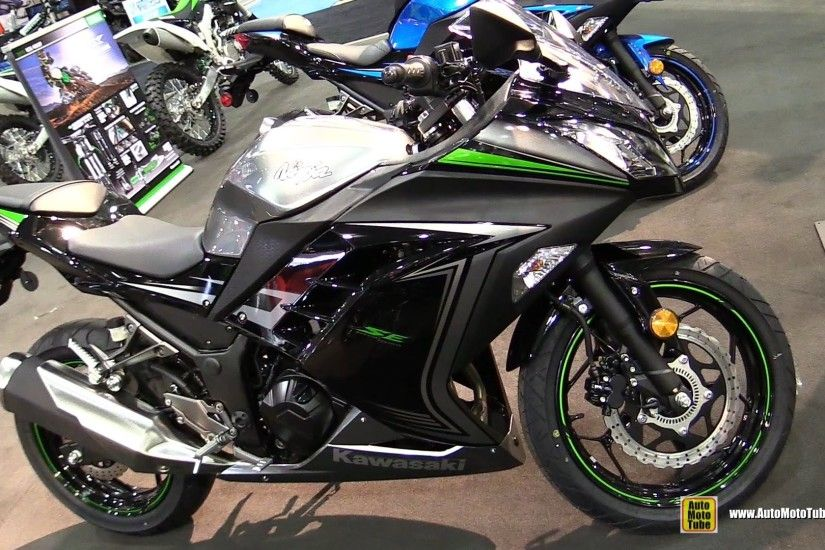 2015 Kawasaki Ninja 300 ABS SE - Walkaround - 2014 Toronto Snowmobile & ATV  Show - YouTube