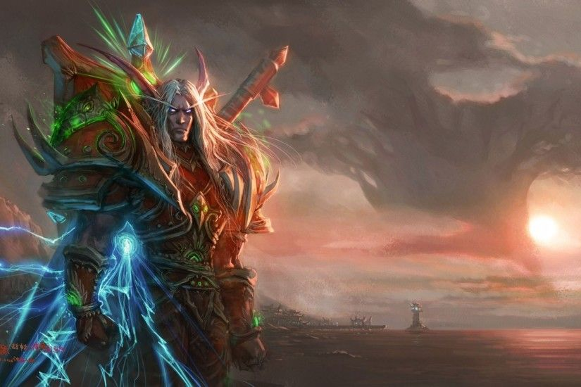 2560x1440 elves, Night Elves, World Of Warcraft, Fantasy Art, Malfurion  Wallpapers HD / Desktop and Mobile Backgrounds