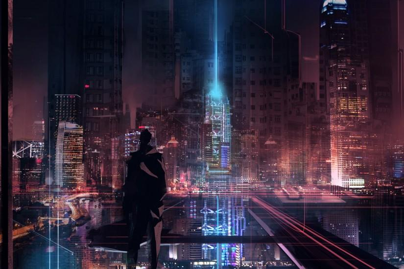 cyberpunk wallpaper 3661x1822 for android tablet