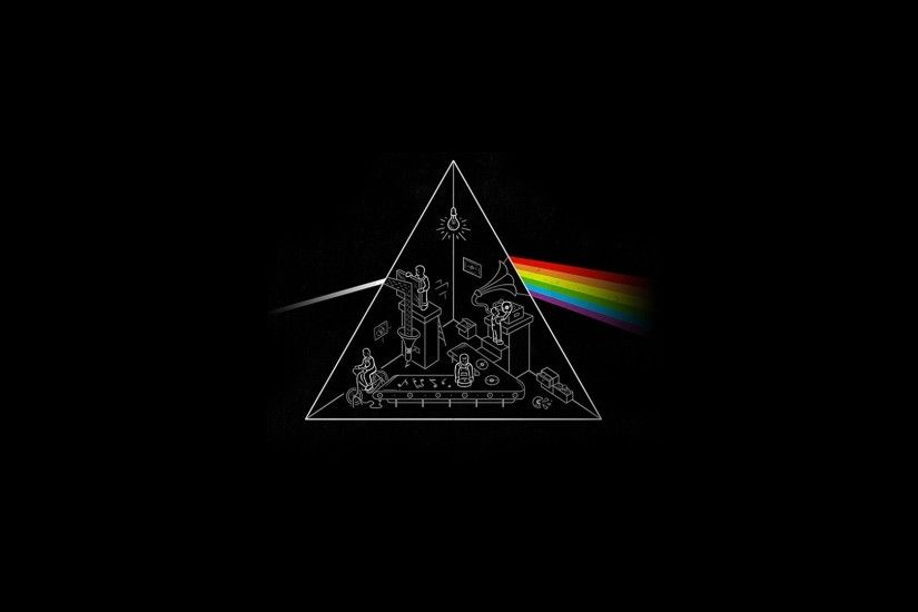 Music - Pink Floyd Heavy Metal Metal Hard Rock Dark Side Of The Moon Black  Wallpaper