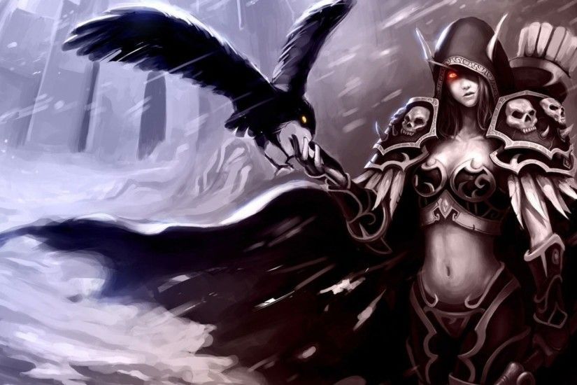 wow night elf female wallpaper | World Of Warcraft Blood Elf Bird Hand  Female