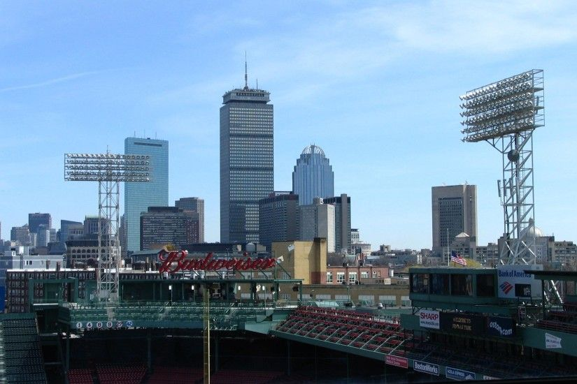Boston Skyline Fenway Wallpaper Desktop Background
