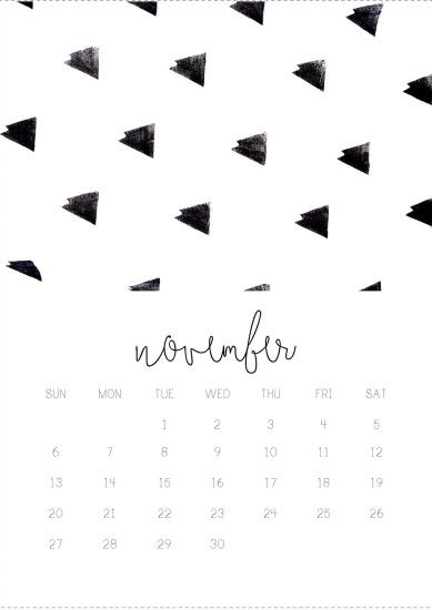 11/12 November monthly 2016 calendar printable, collage digital design by  Gisela Titania. Wallpaper ...