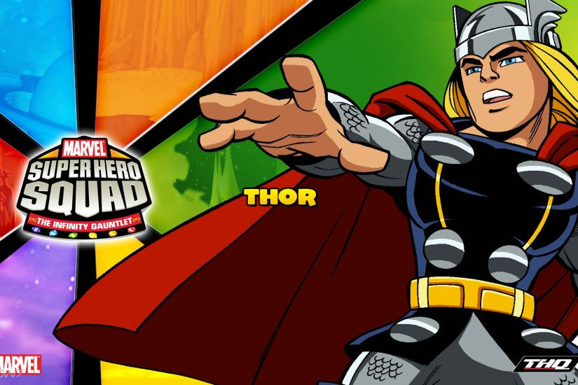 marvel super hero squad the infinity gauntlet thor widescreen wallpaper