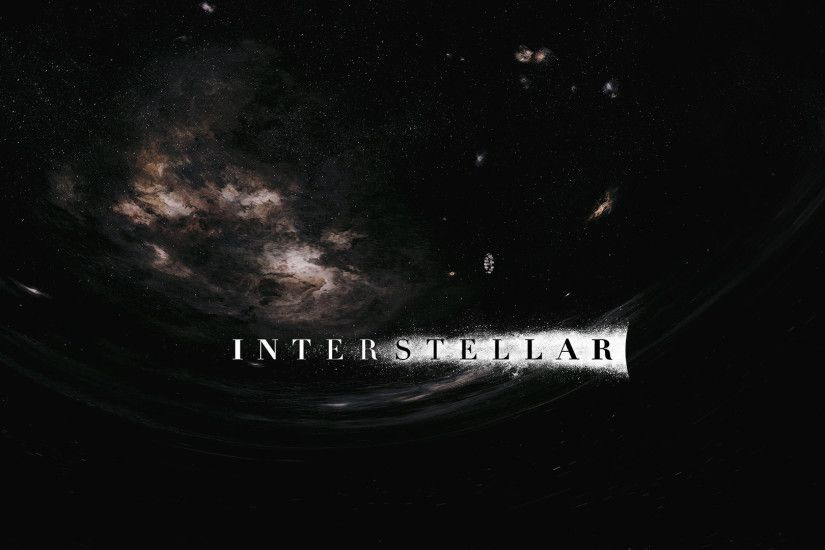 ... Interstellar wormhole wallpaper (with logo) by NordlingArt