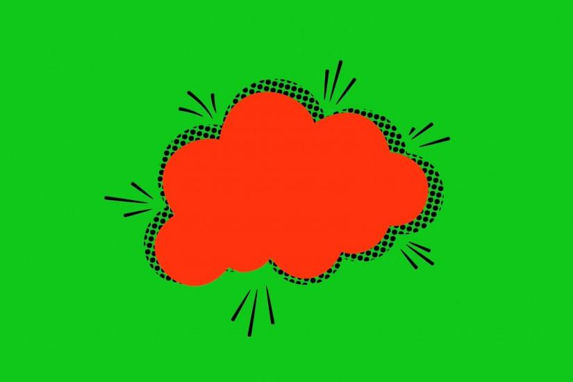 Pop art background animation, HD. Comic style cloud on green background.  Motion Background - VideoBlocks