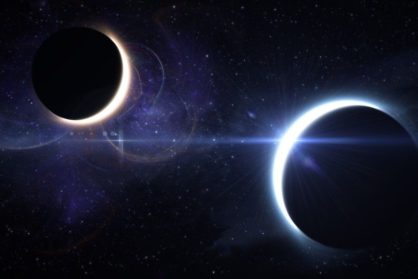 3840x2160 Wallpaper lunar eclipse, solar eclipse, space