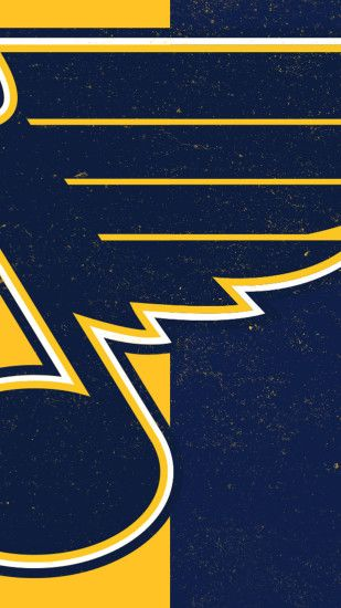 St. Louis Blues Wallpaper: Navy Blue & Yellow (October)