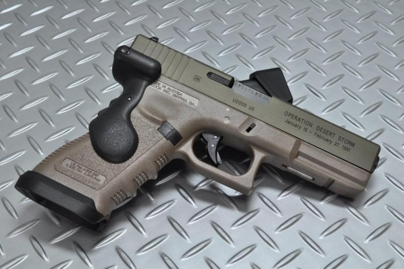 glock self-loading gun weapon background