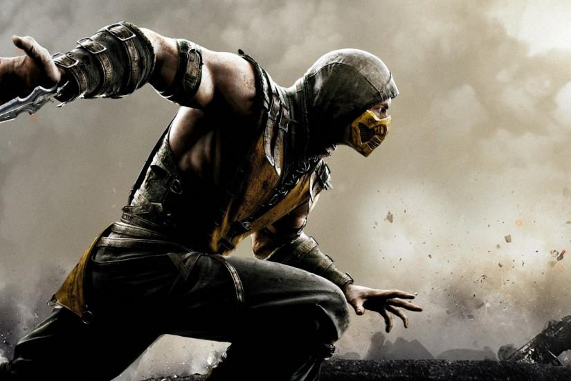 HD Background Mortal Kombat X Scorpion Wallpaper | WallpapersByte