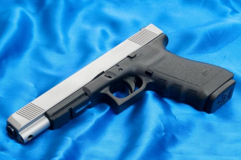 glock 20l gun weapons wallpapers austria glock 20l gun weapon wallpaper  canvas blue background