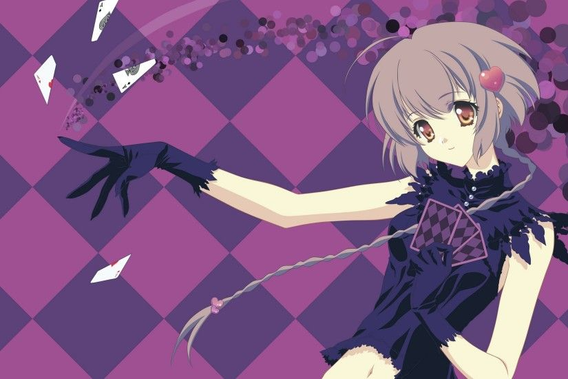 Girl Gesture Card Smile Background Anime Wallpaper Love Jnw479