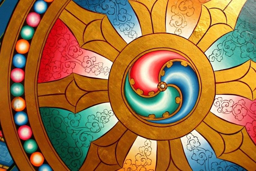 Preview wallpaper dharma, wheel, chakra, buddhism 1920x1080