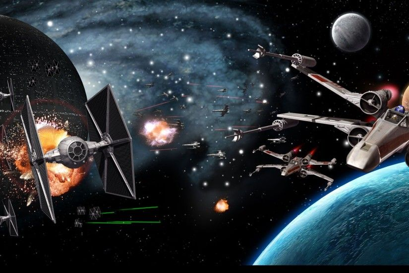 Multi Monitor - Video Game Death Star Space Battle Star Wars Wallpaper