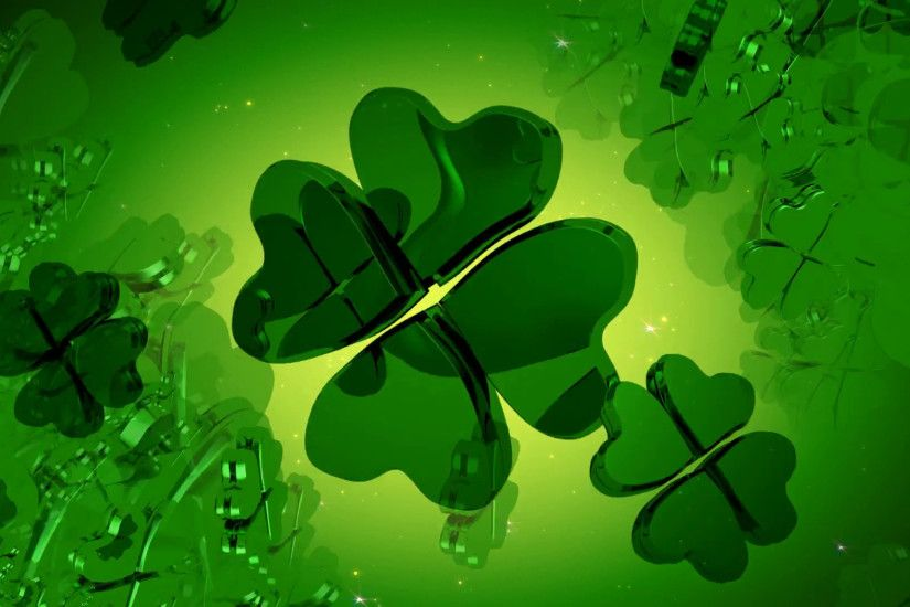St. Patrick's Day - Green Four Leaf Clover Animation Motion Background -  VideoBlocks