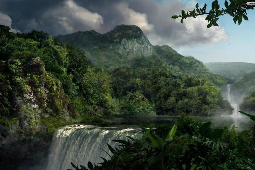 beautiful jungle background 1920x1200