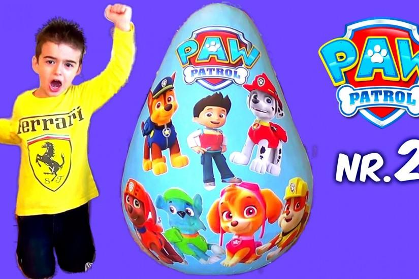 Super Giant PAW PATROL Surprise Egg More Toys Opening Video For Kids Part II