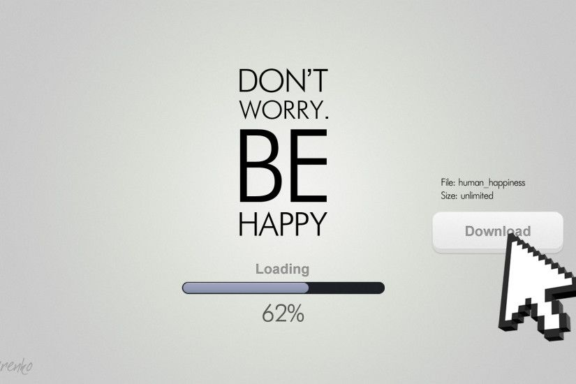 be happy funny quote hd wallpaper
