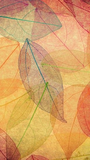 Rainbow Color Leaf Art Fall Nature Pattern #iPhone #7 #wallpaper