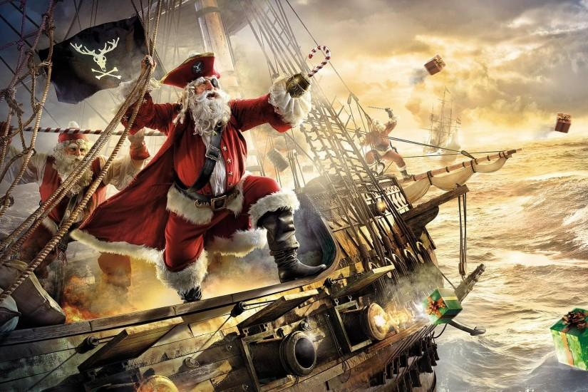 Santa Claus Merry Christmas Wallpaper Free Download