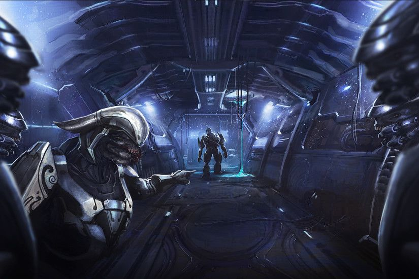 Halo Covenant Alien Drawing HD wallpaper thumb