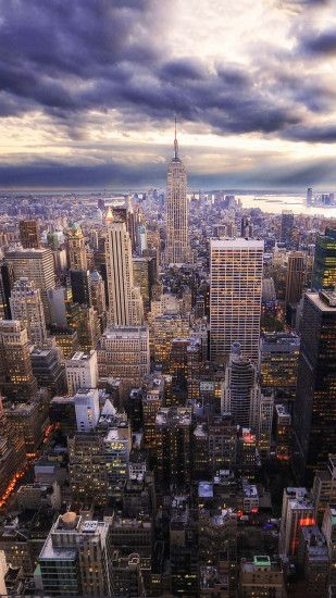 HDR New York Skyline View Android Wallpaper ...