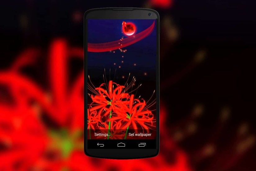 Gorgeous 3D Live Wallpaper of Red Butterflies & Red Spider Lily Flowers -  YouTube