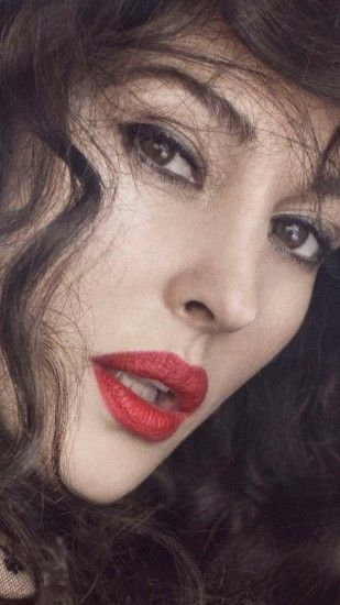 Preview wallpaper monica bellucci, brunette, make-up, curls 1080x1920