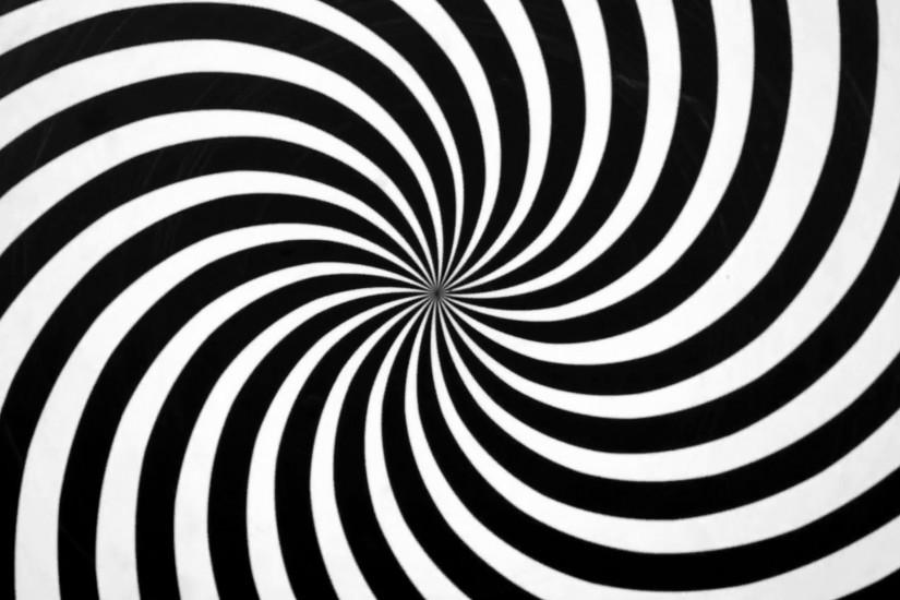 Black and White Spiral Spinning Right. Video background for a transition or  luma key. Spinning right tunnel effect. Swirl spiral visual effect.