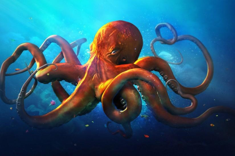 A cool octopus wallpaper I found: