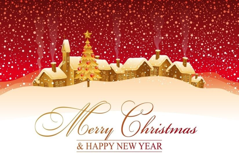 Merry Christmas and Happy New Year Wallpaper Widescreen.