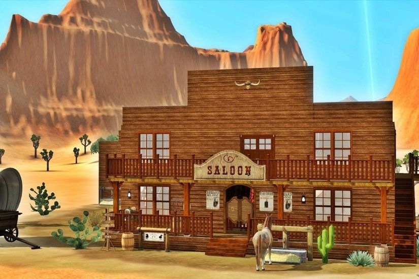 Sims 3 - Saloon in the Wild West featuring Julia Engel + DOWNLOAD - YouTube