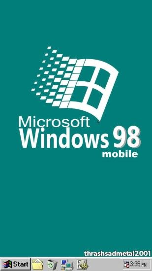 "thrashsadmetal2001: ""Windows 98 mobile """