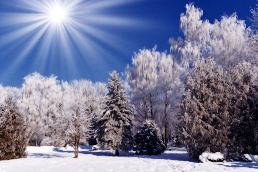 Winter Snow Scenes Wallpapers Free by Yasmin Sharp #2