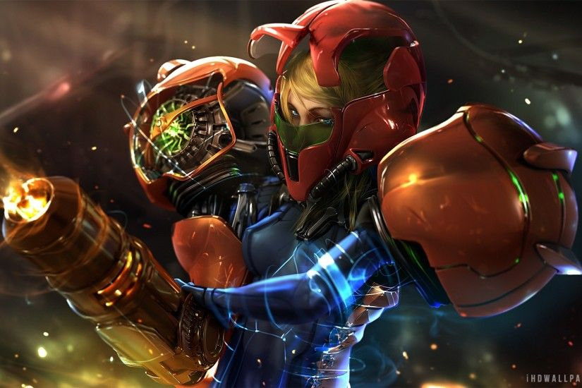 ... Metroid s Zero Samus Suit HD Wallpaper iHD Wallpapers