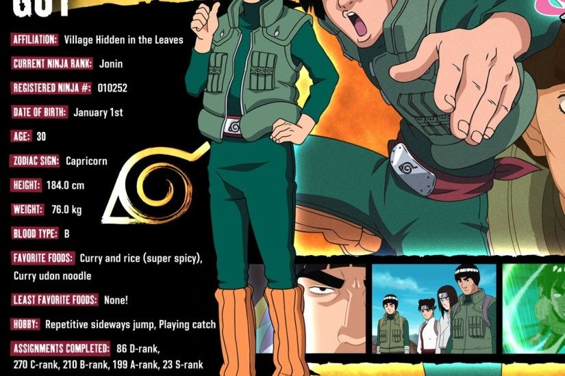 Preview wallpaper naruto, rock lee, hyuuga neji, tenten, might guy,  inscription
