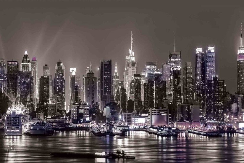 New York City Skyline Urban Photo Wallpaper Mural (CN-1311PP)