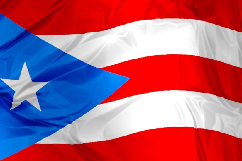 Subscription Library 3D waving Puerto Rico flag background red, blue and  white colors, Latin America Caribbean
