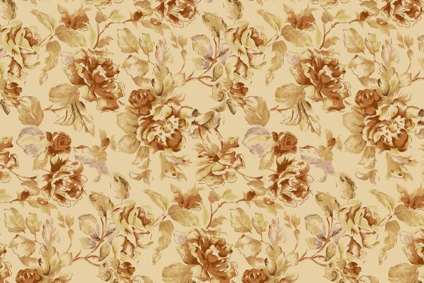 Vintage Flower Pattern Wallpaper.