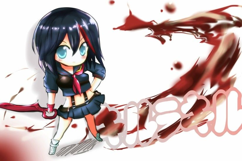 matoi ryuko chibi kill la kill anime girl image hd wallpaper 1920x1200 .